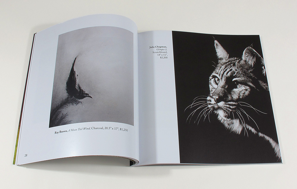 interior spread with wild cat artwork