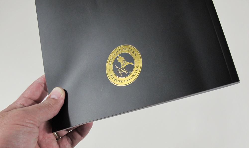 back of art book - foil logo