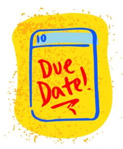 illustration of calendar due date