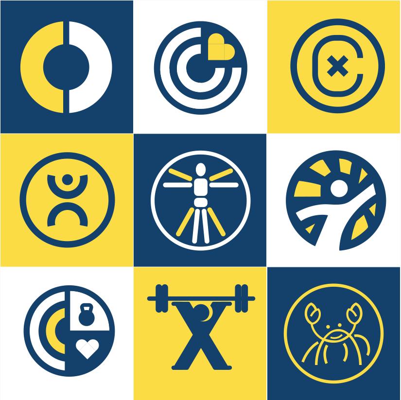 digitized logo icons